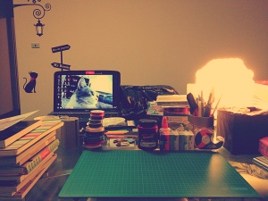 my work station.